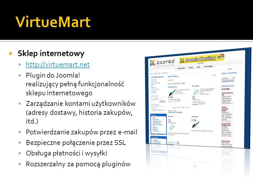 VirtueMart Sklep internetowy http://virtuemart.net