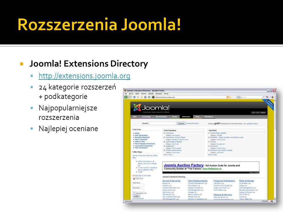 Rozszerzenia Joomla! Joomla! Extensions Directory