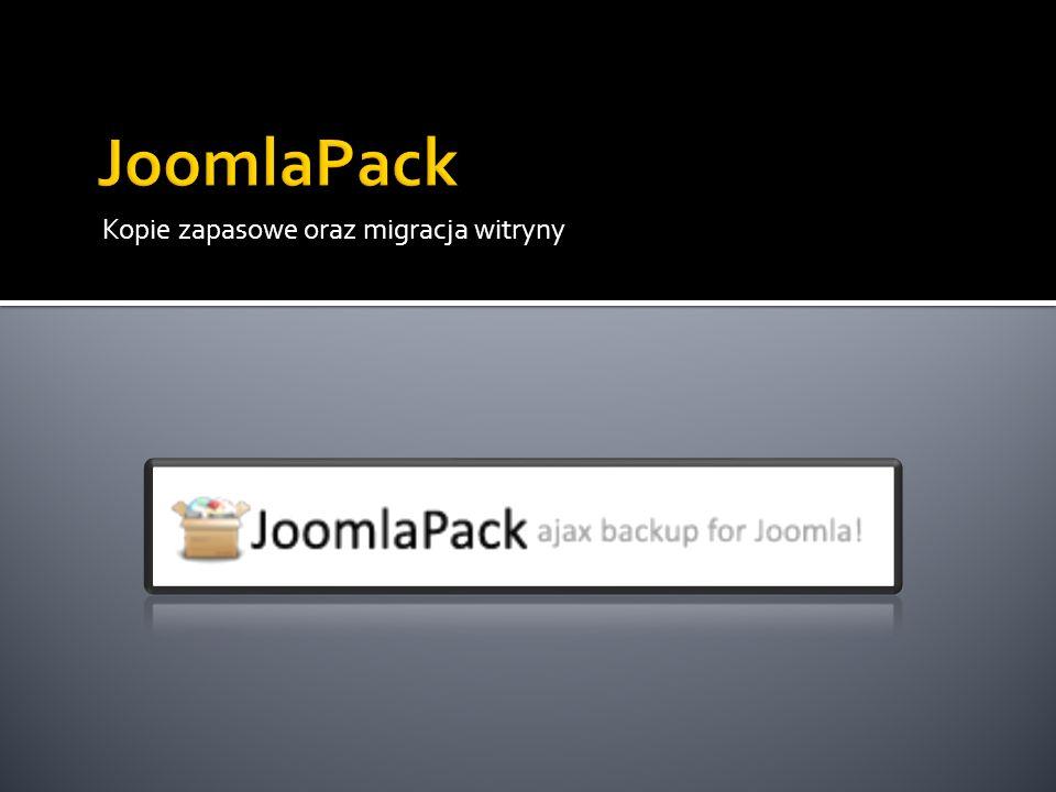 JoomlaPack Kopie zapasowe oraz migracja witryny