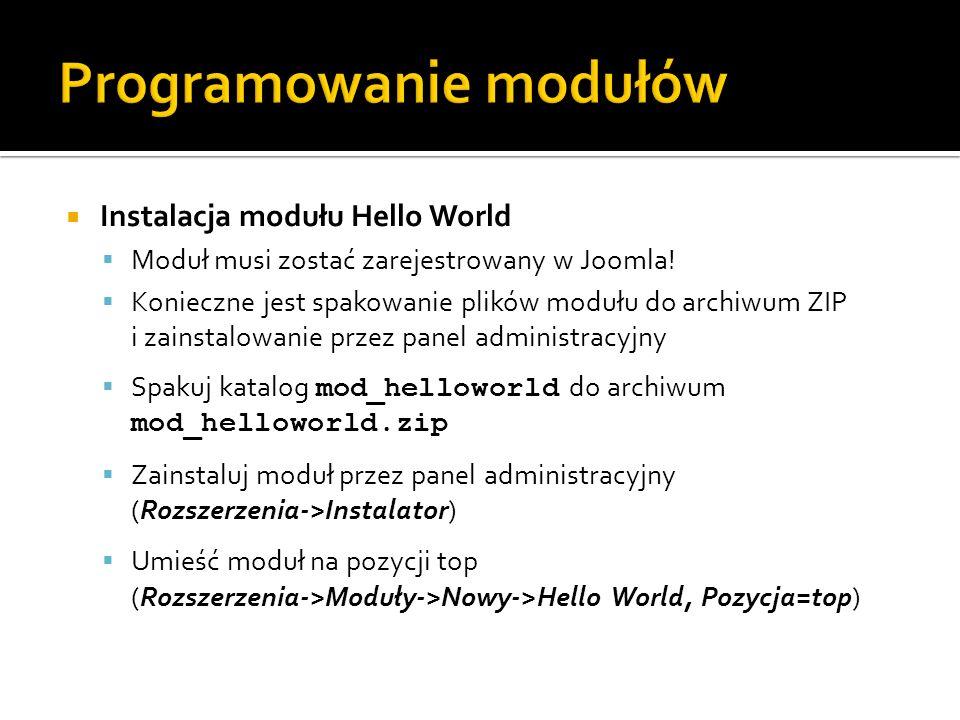 Programowanie modułów