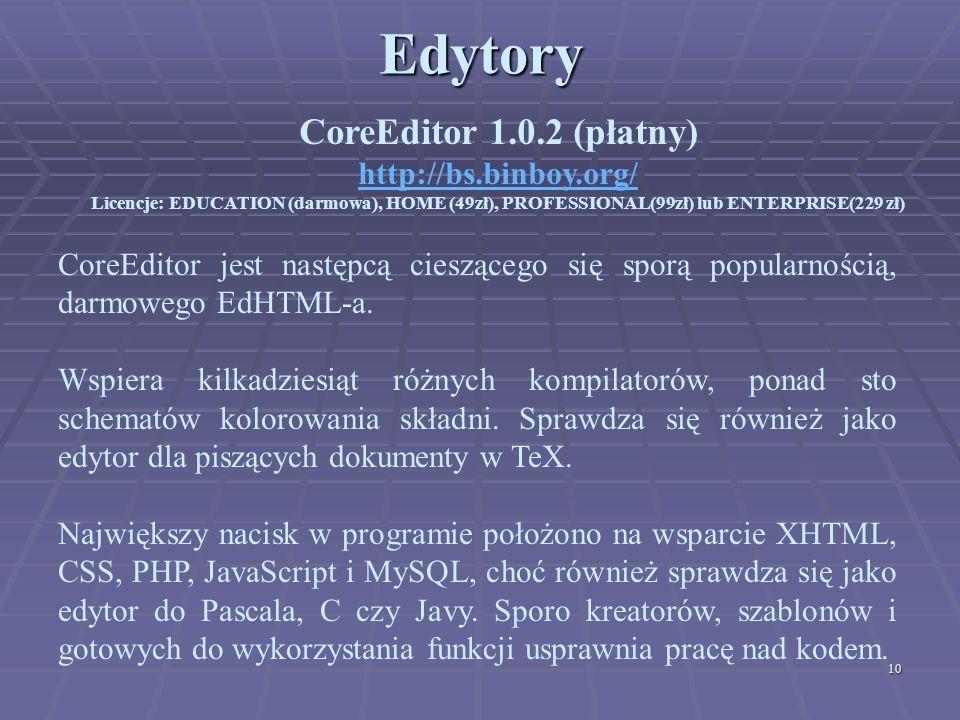 Edytory CoreEditor 1.0.2 (płatny) http://bs.binboy.org/