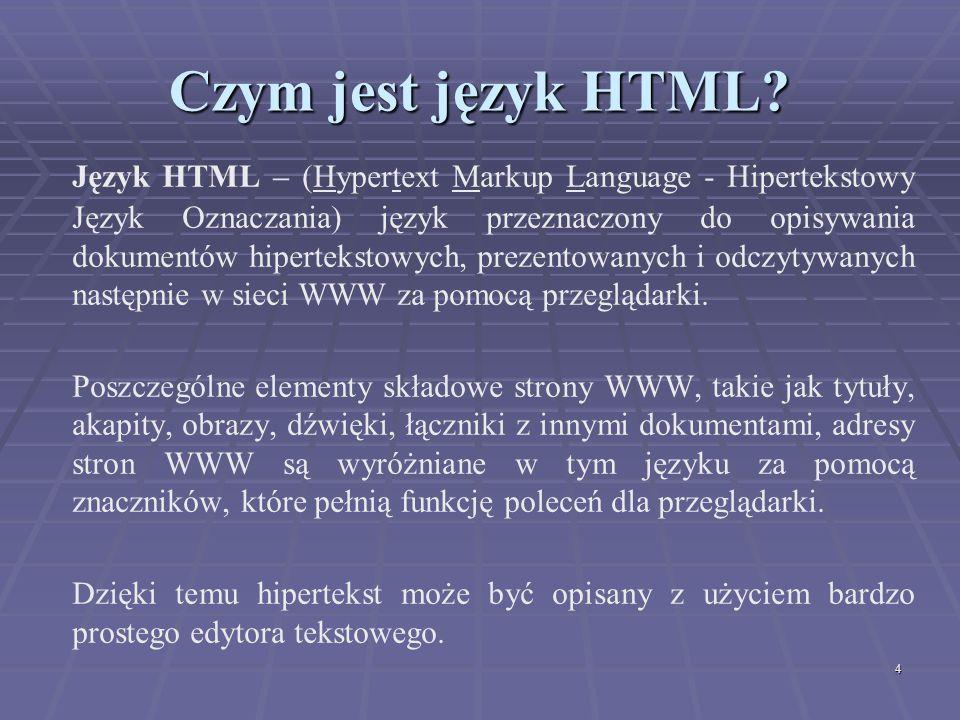 Czym jest język HTML
