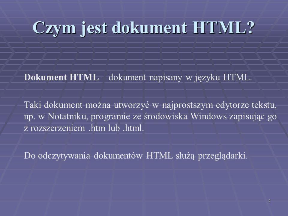 Czym jest dokument HTML