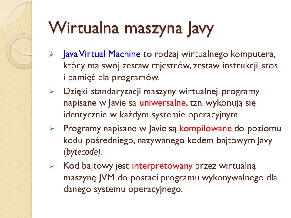 Wirtualna maszyna Javy