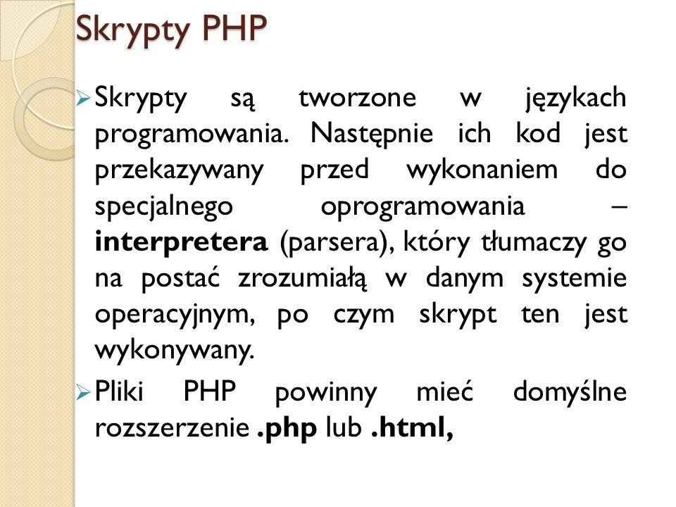 Skrypty PHP
