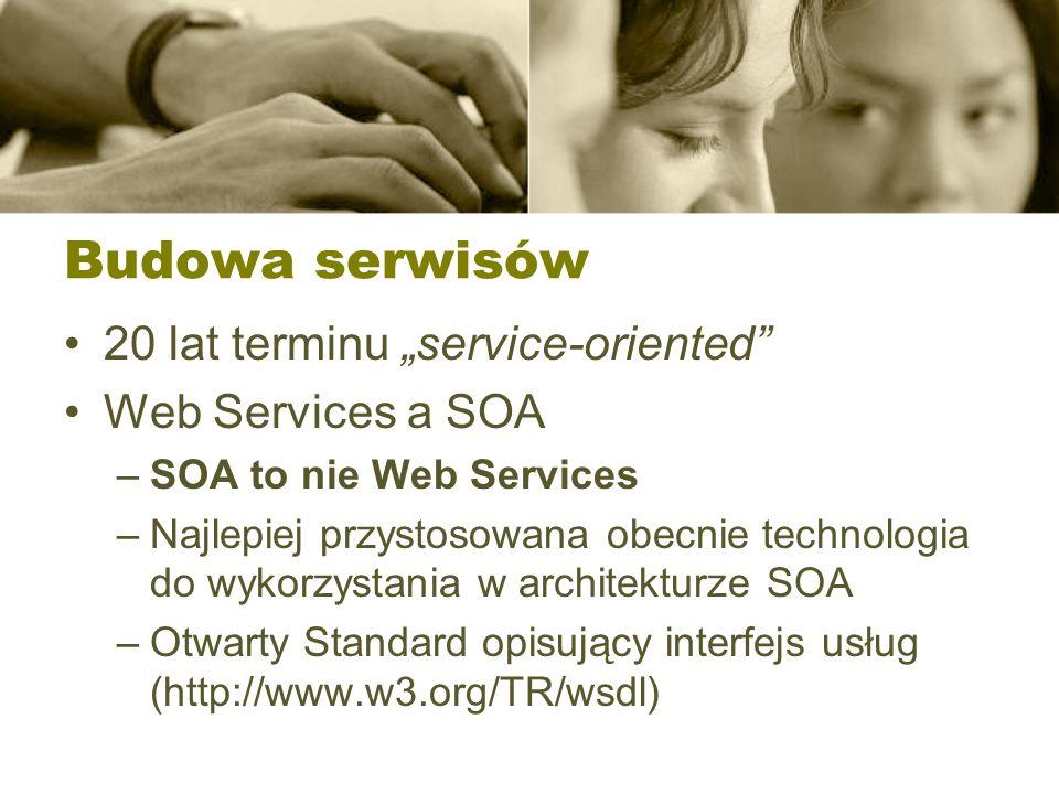 "Budowa serwisów 20 lat terminu ""service-oriented Web Services a SOA"