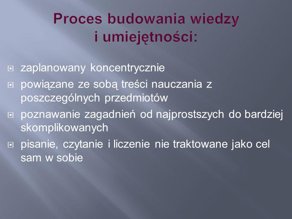 Proces budowania wiedzy i umiejętności: