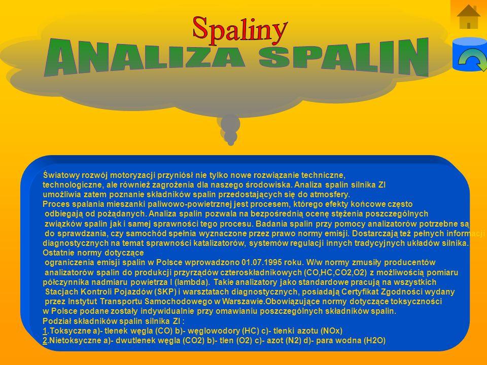 Spaliny ANALIZA SPALIN