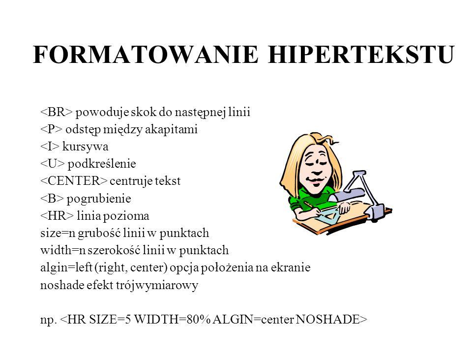 FORMATOWANIE HIPERTEKSTU