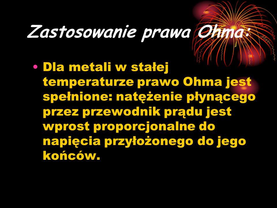 Zastosowanie prawa Ohma: