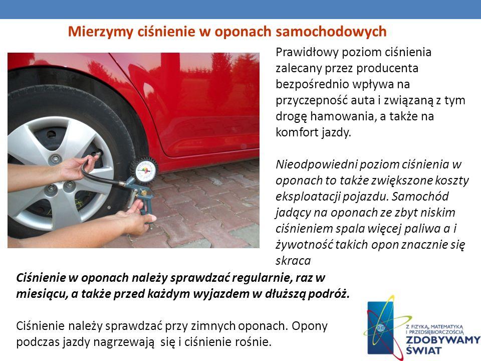 Mierzymy ciśnienie w oponach samochodowych