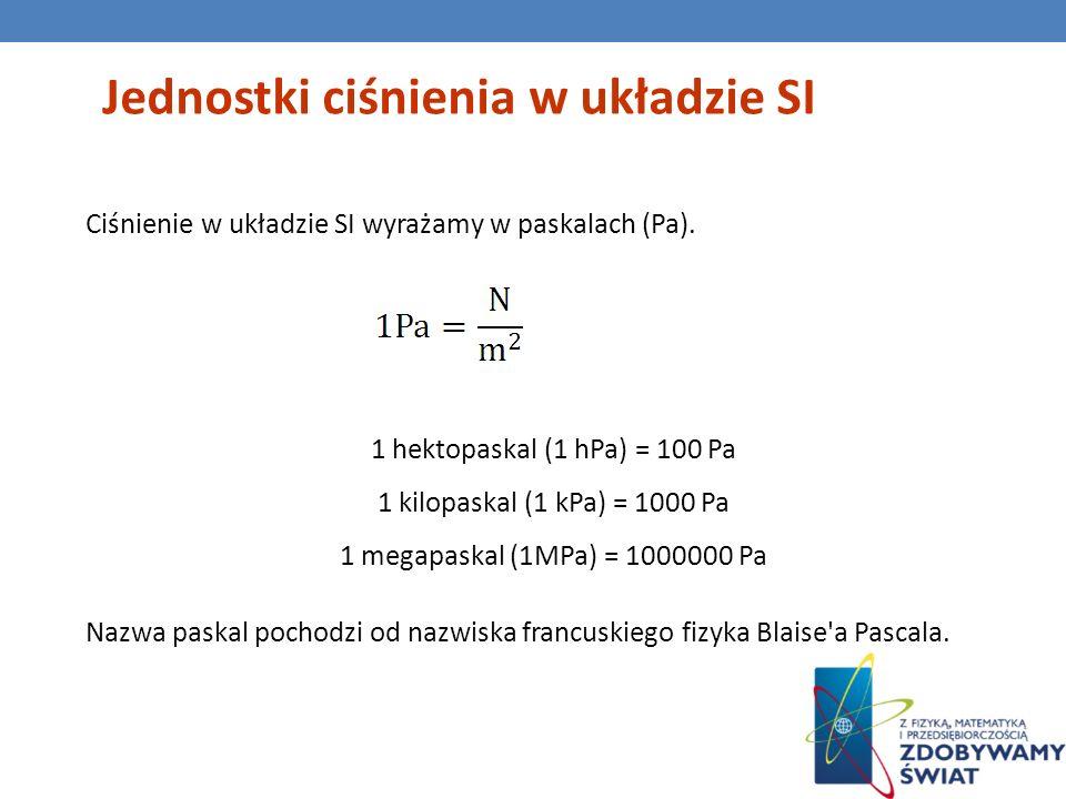 Jednostki ciśnienia w układzie SI