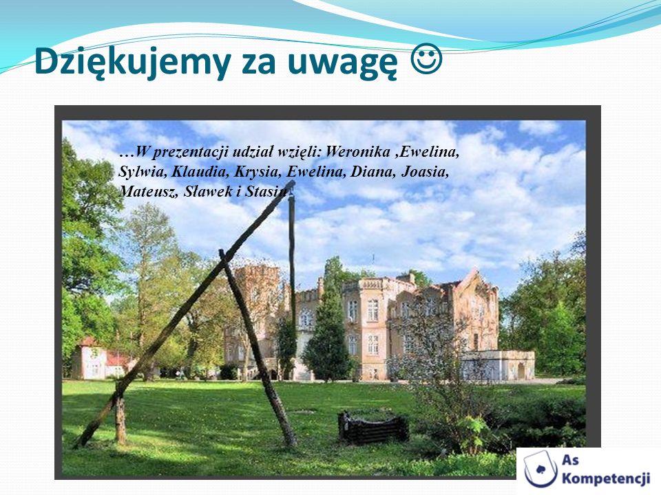 Dziękujemy za uwagę  …W prezentacji udział wzięli: Weronika ,Ewelina, Sylwia, Klaudia, Krysia, Ewelina, Diana, Joasia, Mateusz, Sławek i Stasiu.