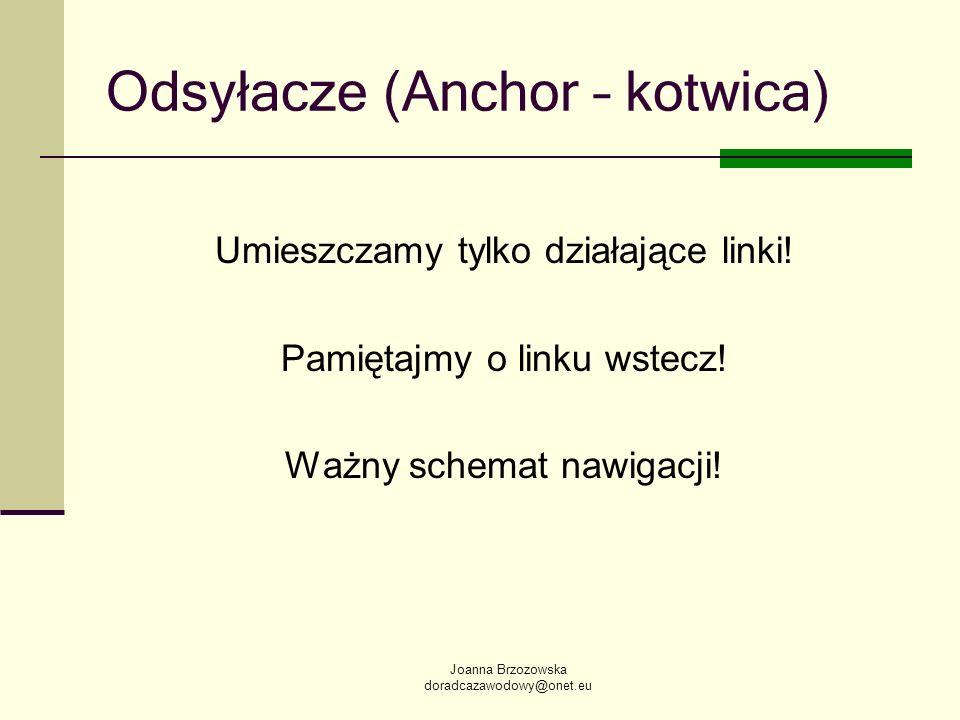 Odsyłacze (Anchor – kotwica)