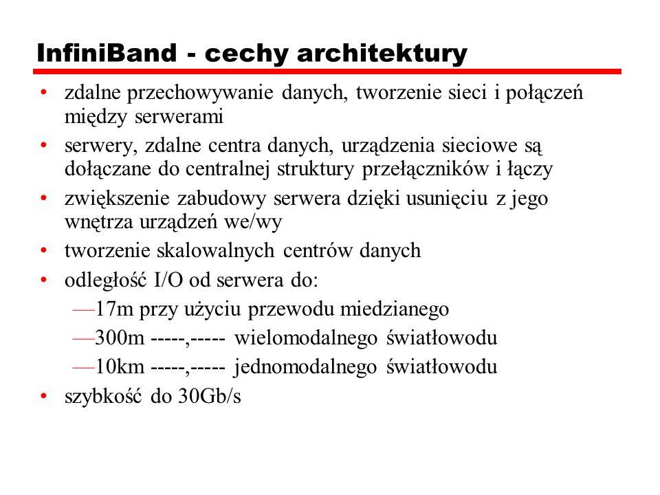 InfiniBand - cechy architektury