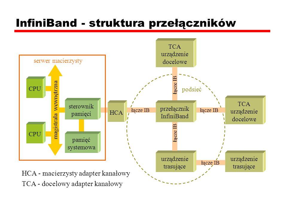 InfiniBand - struktura przełączników