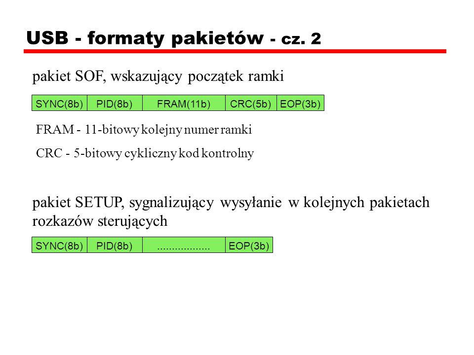 USB - formaty pakietów - cz. 2