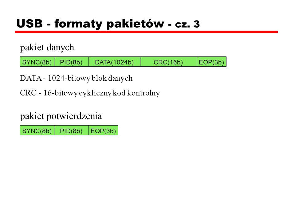 USB - formaty pakietów - cz. 3