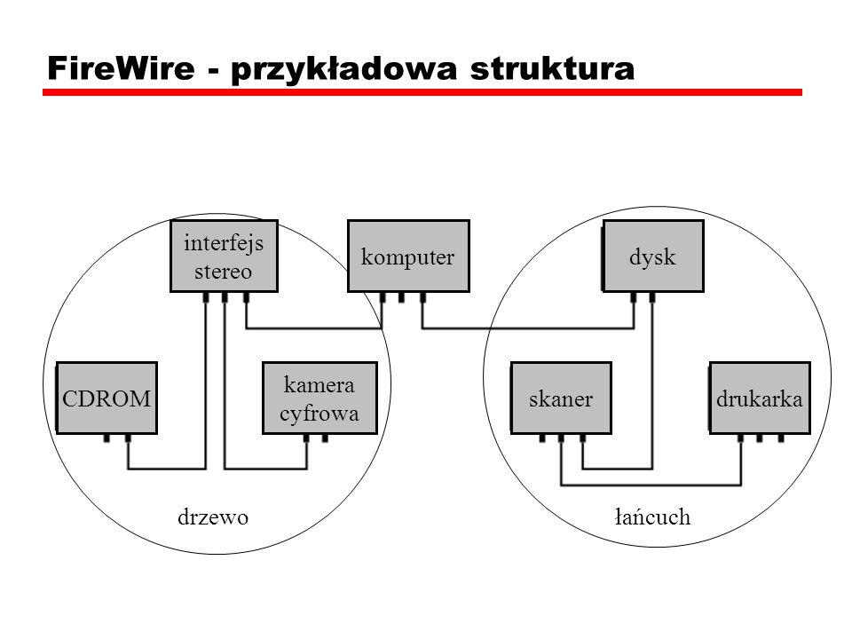 FireWire - przykładowa struktura