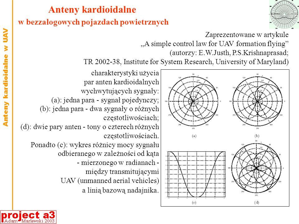 Anteny kardioidalne w bezzałogowych pojazdach powietrznych
