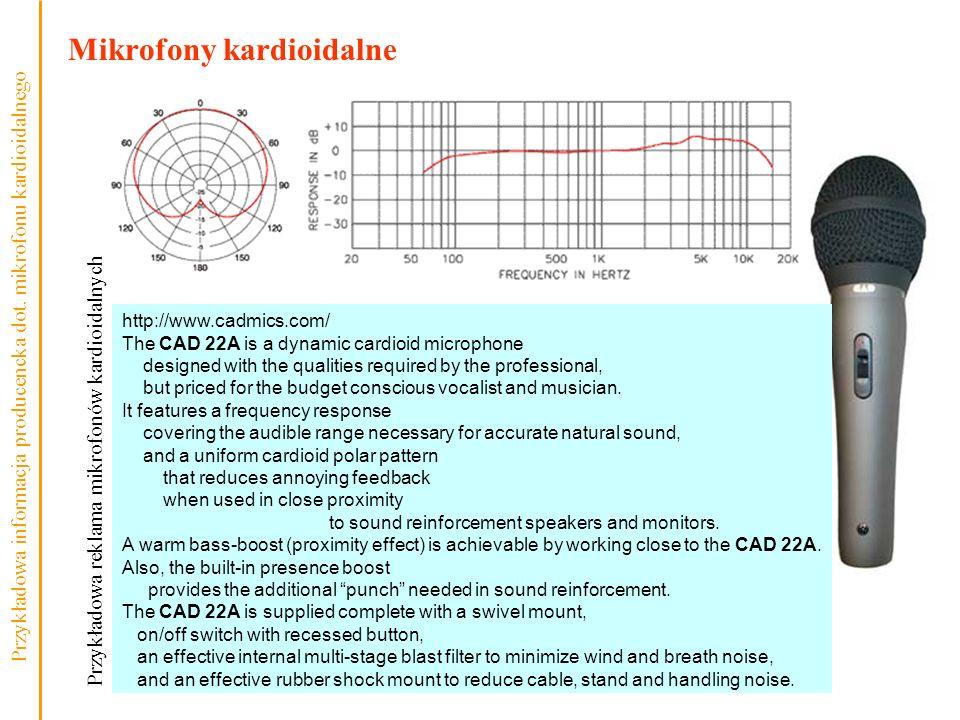 Mikrofony kardioidalne