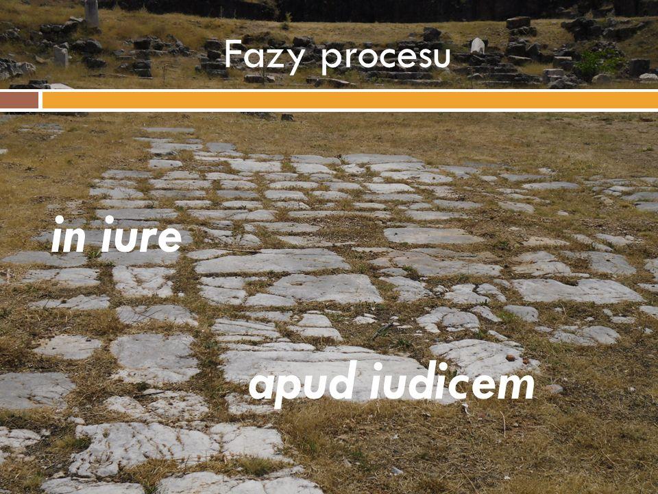 Fazy procesu in iure apud iudicem