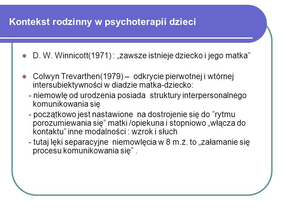 Kontekst rodzinny w psychoterapii dzieci