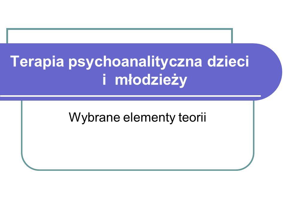 Terapia psychoanalityczna dzieci i młodzieży