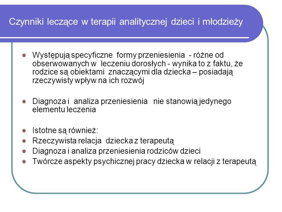 Czynniki leczące w terapii analitycznej dzieci i młodzieży
