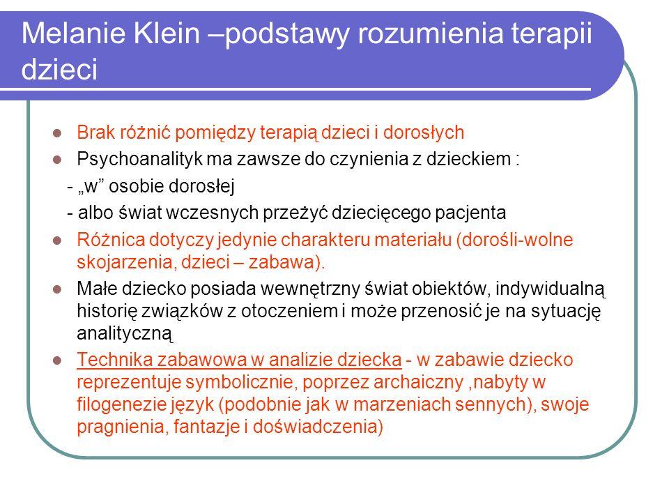 Melanie Klein –podstawy rozumienia terapii dzieci
