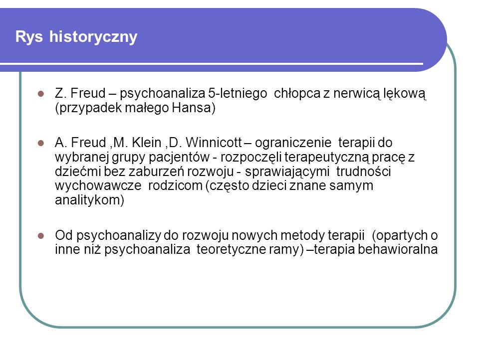 Rys historyczny Z. Freud – psychoanaliza 5-letniego chłopca z nerwicą lękową (przypadek małego Hansa)