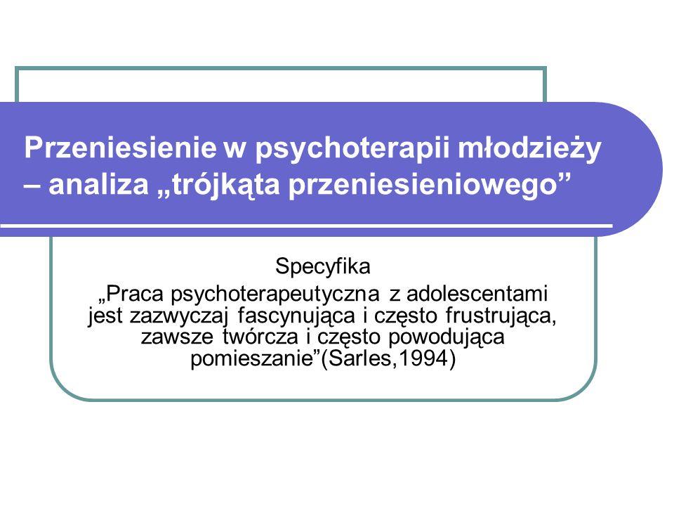 """Przeniesienie w psychoterapii młodzieży – analiza """"trójkąta przeniesieniowego"""