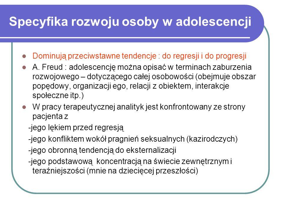 Specyfika rozwoju osoby w adolescencji
