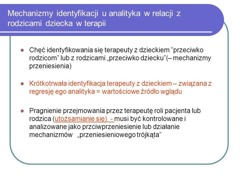 Mechanizmy identyfikacji u analityka w relacji z rodzicami dziecka w terapii