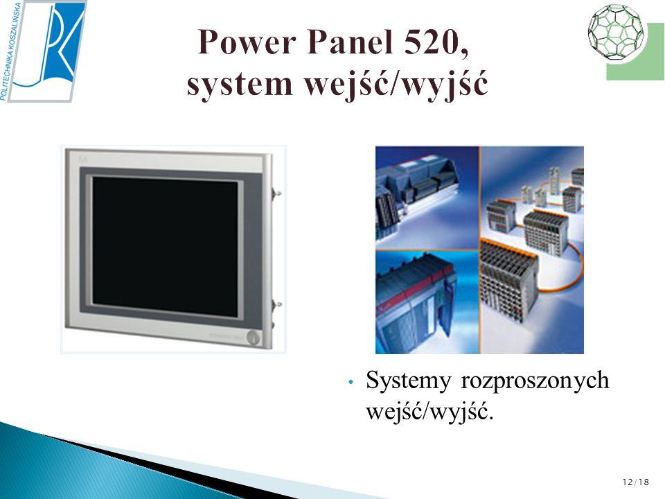 Power Panel 520, system wejść/wyjść