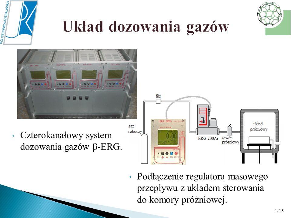 Układ dozowania gazów Czterokanałowy system dozowania gazów -ERG.