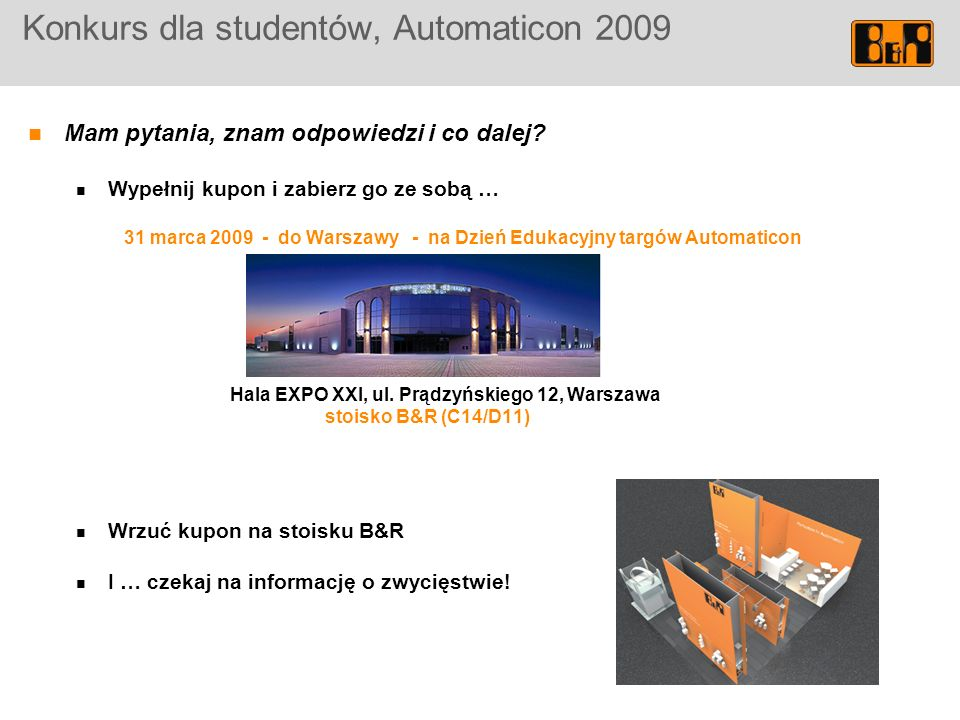 Konkurs dla studentów, Automaticon 2009