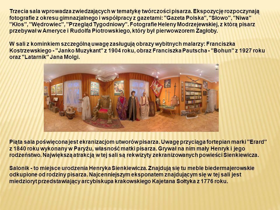 Trzecia sala wprowadza zwiedzających w tematykę twórczości pisarza