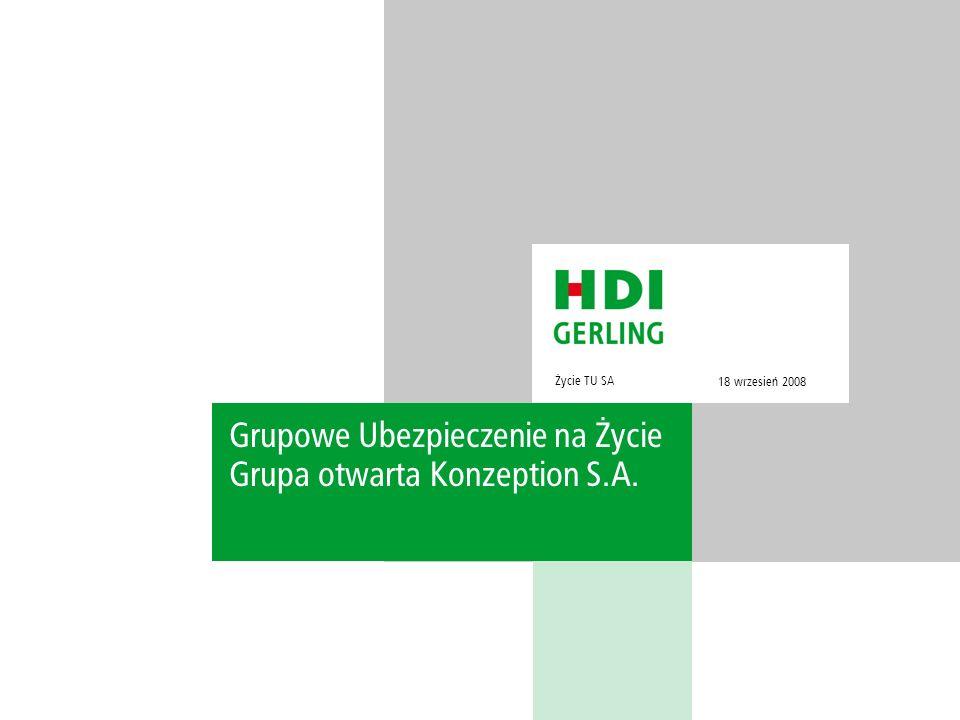 Grupowe Ubezpieczenie na Życie Grupa otwarta Konzeption S.A.