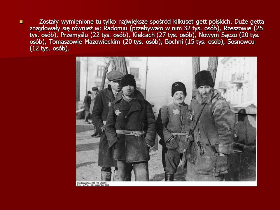 Zostały wymienione tu tylko największe spośród kilkuset gett polskich