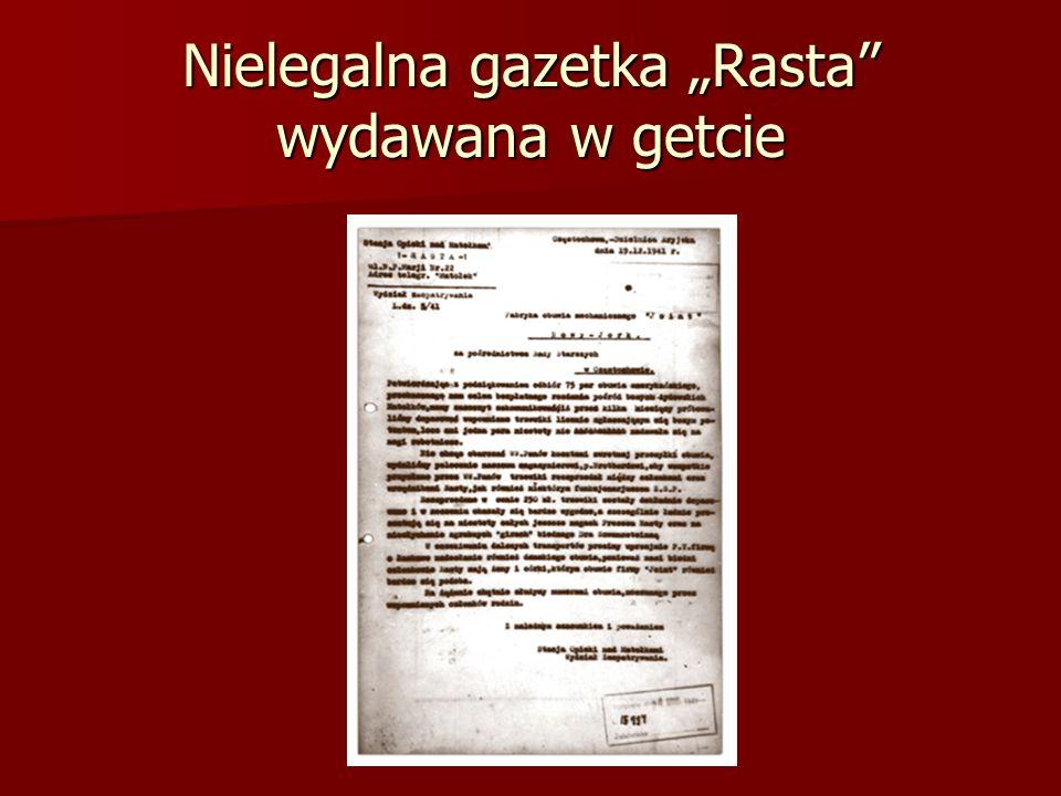 """Nielegalna gazetka """"Rasta wydawana w getcie"""