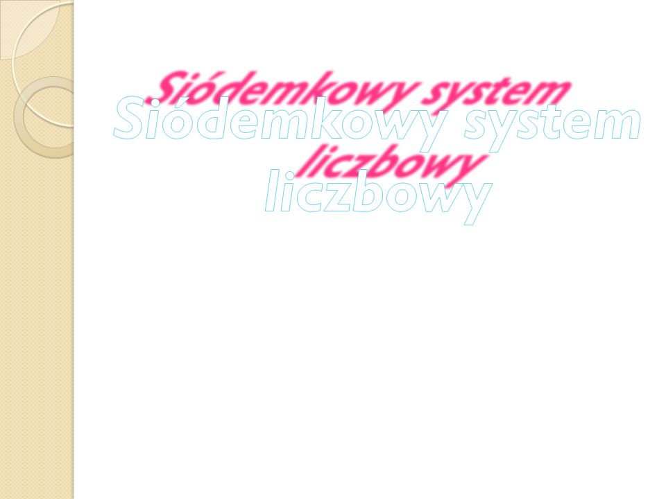 Siódemkowy system liczbowy