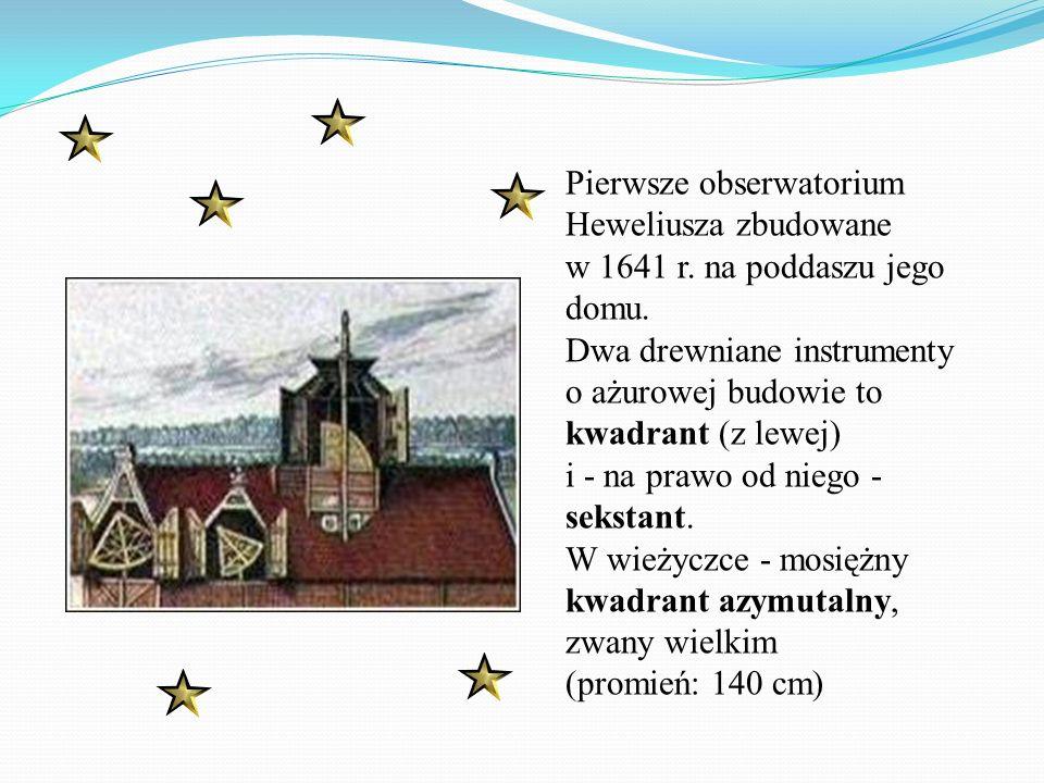 Pierwsze obserwatorium Heweliusza zbudowane w 1641 r