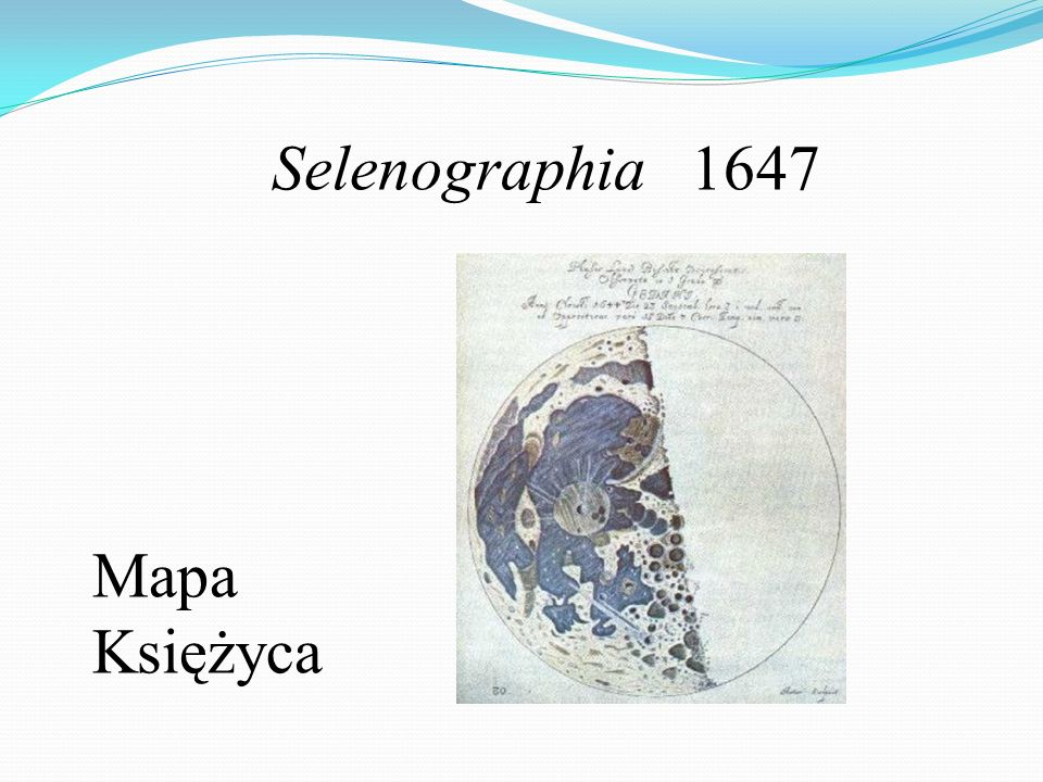 Selenographia 1647 Mapa Księżyca