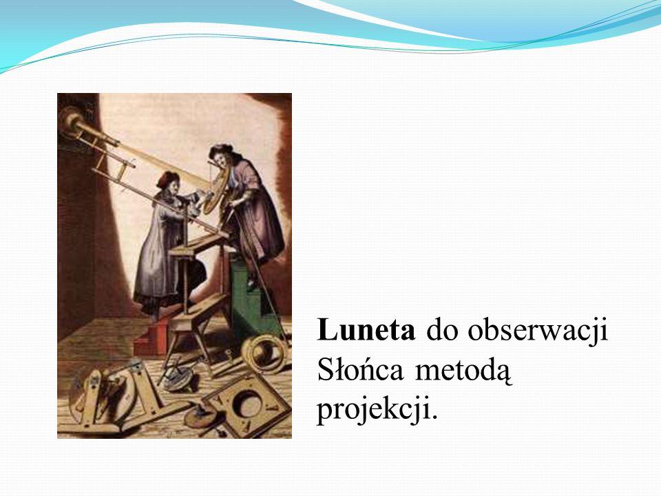 Luneta do obserwacji Słońca metodą projekcji.