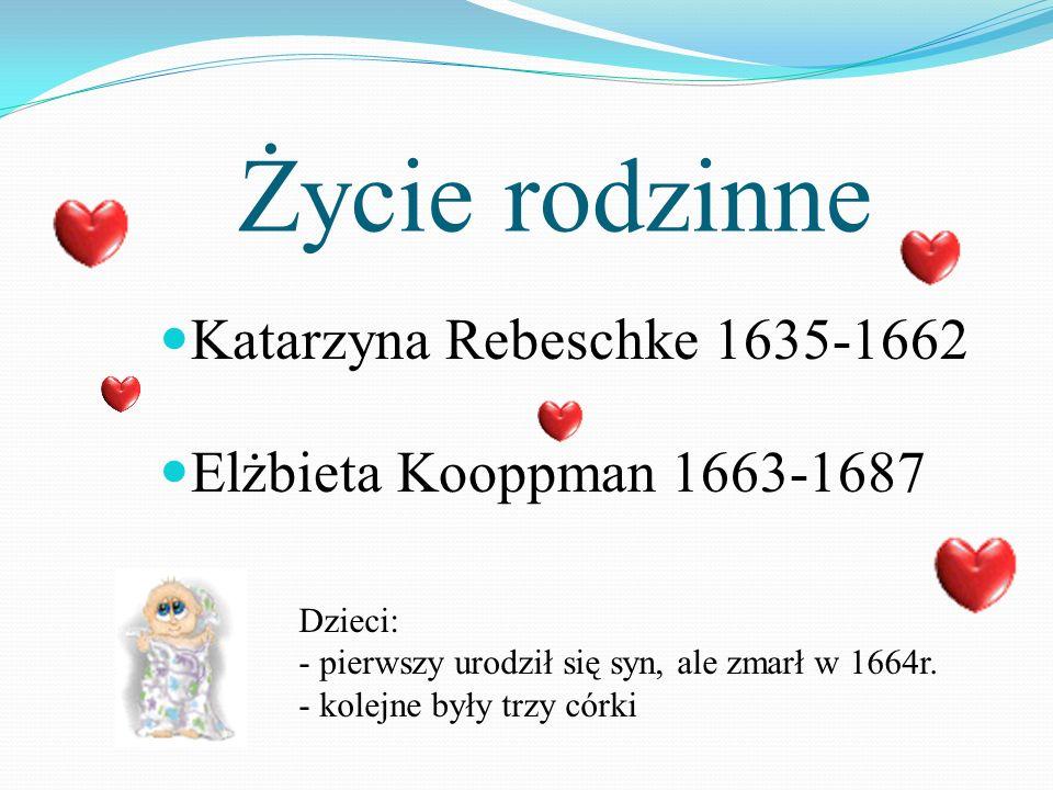 Życie rodzinne Katarzyna Rebeschke 1635-1662