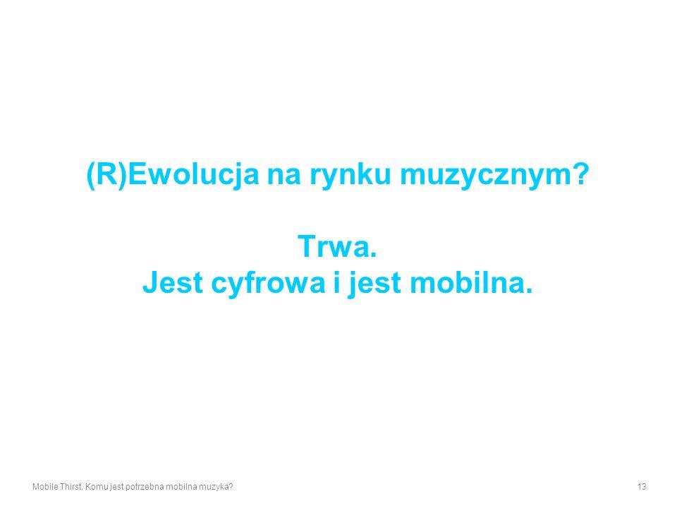 (R)Ewolucja na rynku muzycznym Trwa. Jest cyfrowa i jest mobilna.