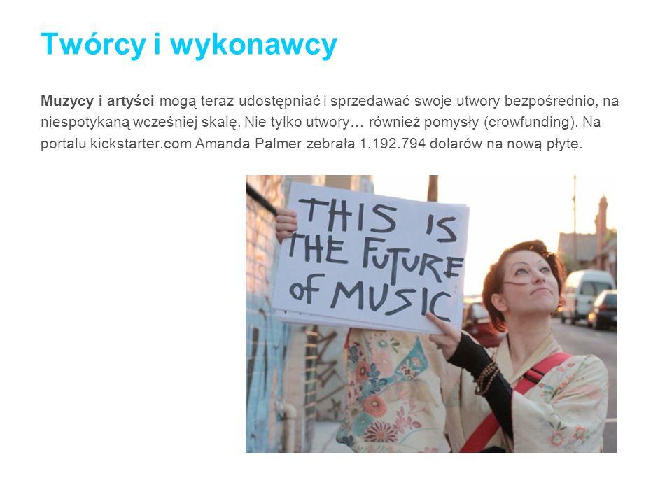 Twórcy i wykonawcy Muzycy i artyści mogą teraz udostępniać i sprzedawać swoje utwory bezpośrednio, na.
