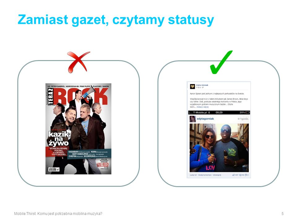 Zamiast gazet, czytamy statusy