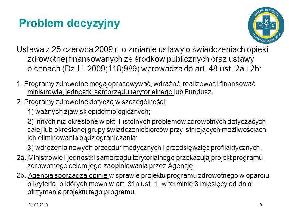 Programy zdrowotne jednostek samorządu terytorialnego i ministerstw